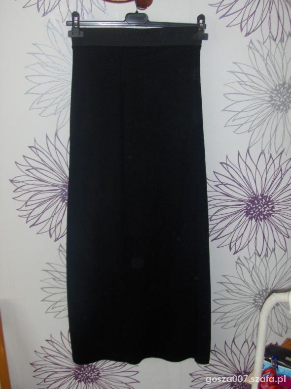 Spódnice MAXI wąska czarna spódnica XS