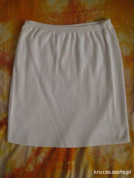 Spódnice Biała spódnica z kieszonką