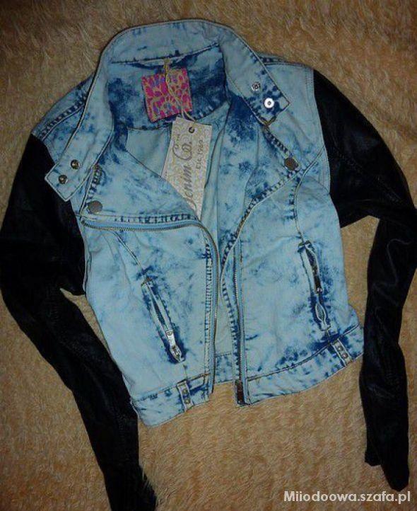 Ramoneska jeans skórzane rękawy PRIMARK...