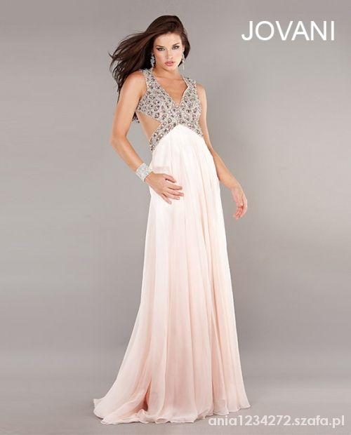 brzoskwiniowa suknia