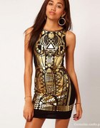 sukienka RIVER ISLAND aztec print bodycon dress...