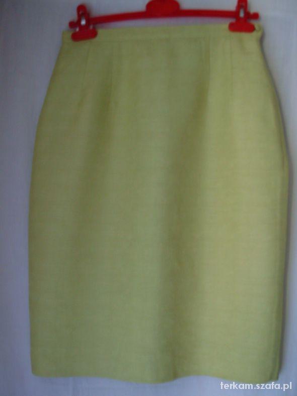 Spódnice Seledynowa wąska spódnica 12