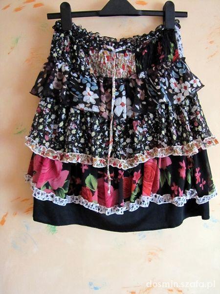 Spódnice Spódniczka floral falbanki
