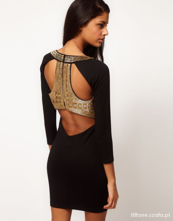 Asos bodycon embellished dress