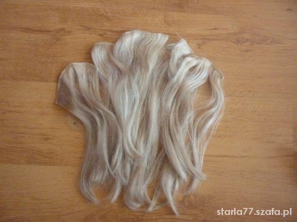Pozostałe Włosy naturalne Clip blond popielaty