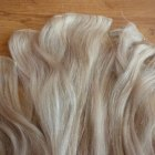 Włosy naturalne Clip blond popielaty