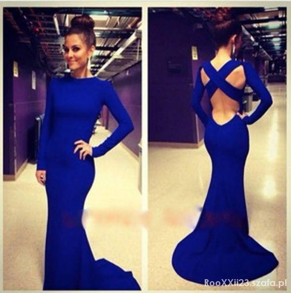 Kobaltowa suknia