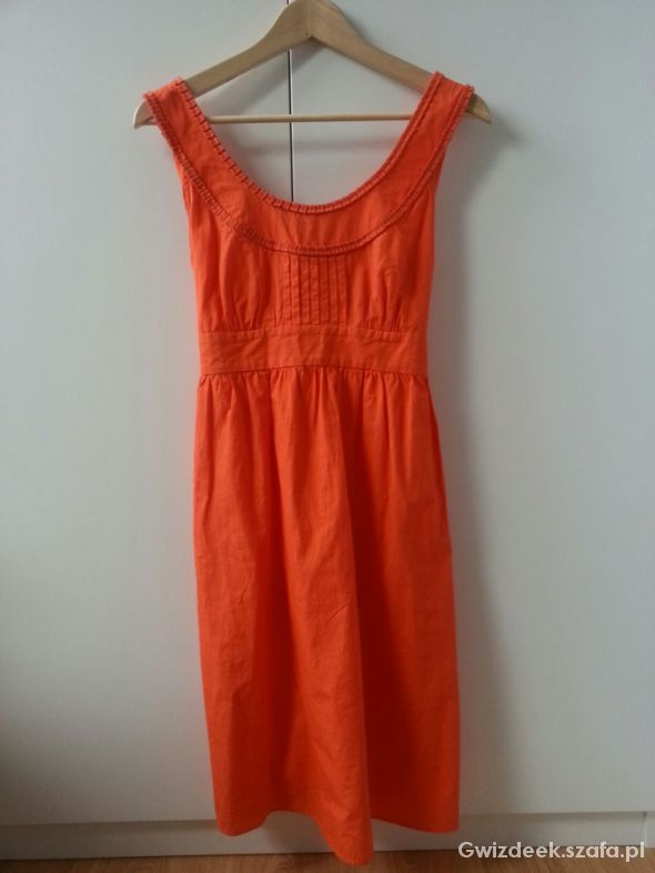 Letnia pomarańczowa sukienka z Marks&Spencer