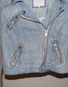 Ramoneska jeansowa z dresowymi rękawa River Island