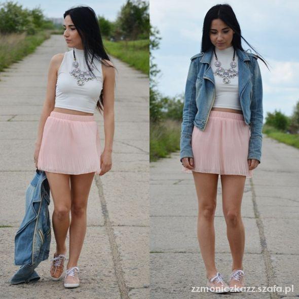 Blogerek white & powder pink