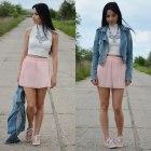 white & powder pink