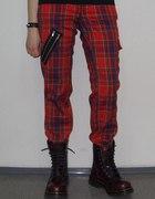 spodnie w kratkę punk S...