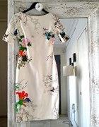 Zara Floral Sukienka Kwiaty