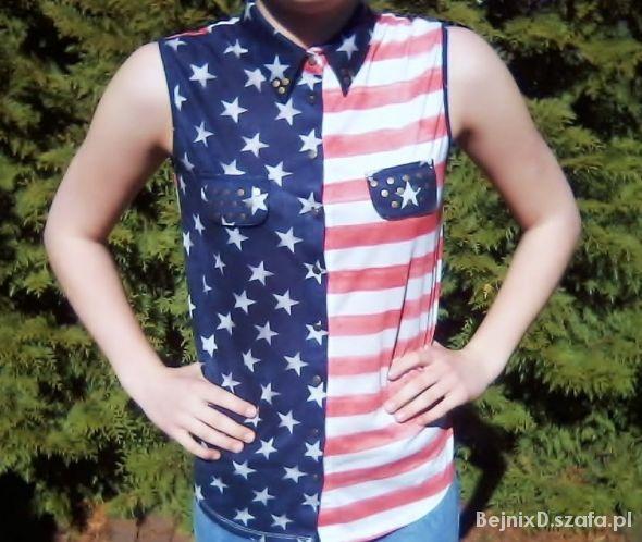 Koszula z flagą USA w Koszule Szafa.pl  8weHi