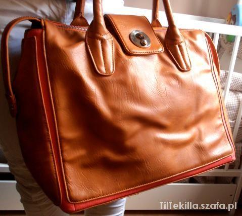 kufer CROPP karmelowy z rozowym akcentem