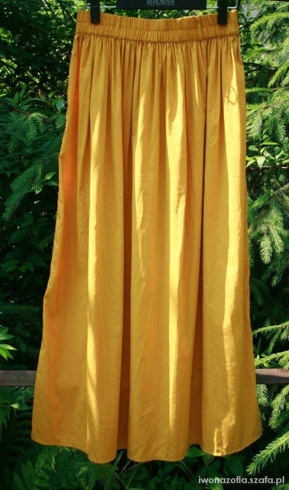 Spódnice Maxi spódnica Atmosphere żółta piękna długa