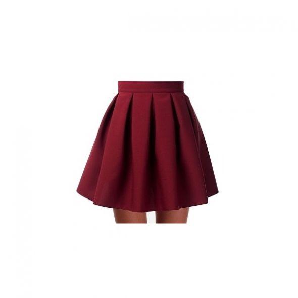 Spódnice Rozkloszowana bordowa spódniczka