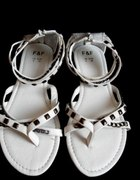 nowe sandały gladiatorki 39 białe
