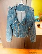 Kurtka jeans ramoneska