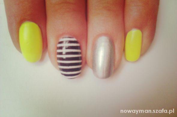 Fryzury neon nails