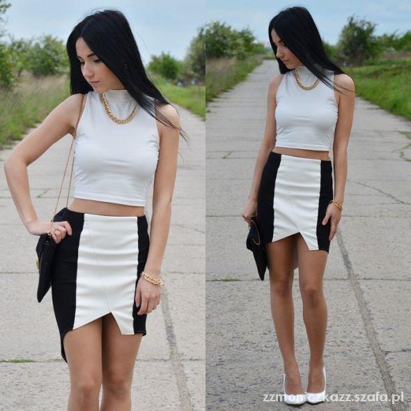 Blogerek asymmetric skirt