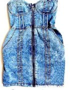 Sukienka H&m marmurkowa S jeansowa gorset