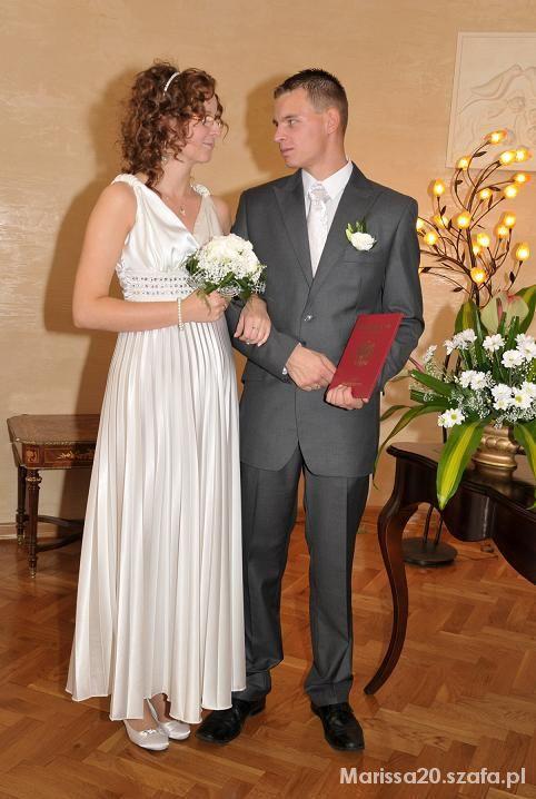36118fd06d biała sukienka idealna na ślub cywilny w Suknie ślubne - Szafa.pl