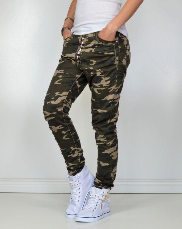 Spodnie baggy moro M