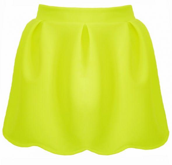 Spódnice spódniczka kloszowana neon