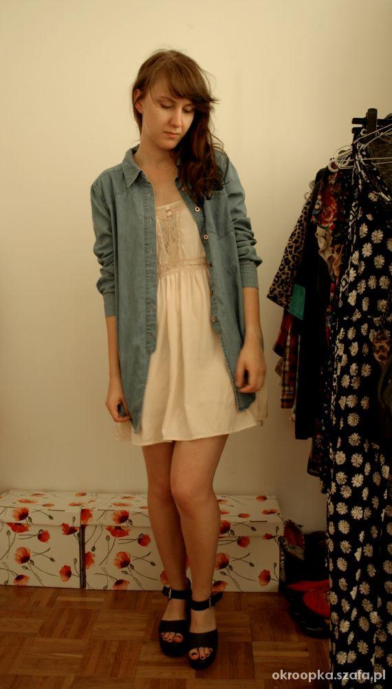 Mój styl nude dress