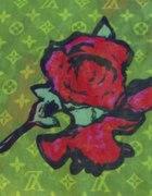 Louis Vuitton Róże szalik apaszka
