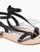 skórzane sandały z zapięciem wokół kostki Zara...