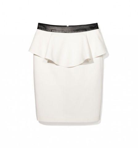 Spódnice biała Baskinka midi Mohito