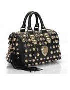 Gucci Babouska Studded Boston Bag skora naturalna...