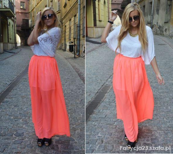 Maxi skirt neon