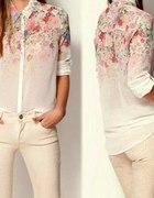 Szyfonowa koszula mgiełka floral kwiaty