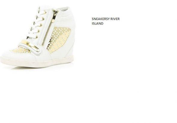 białe sneakersy river island...