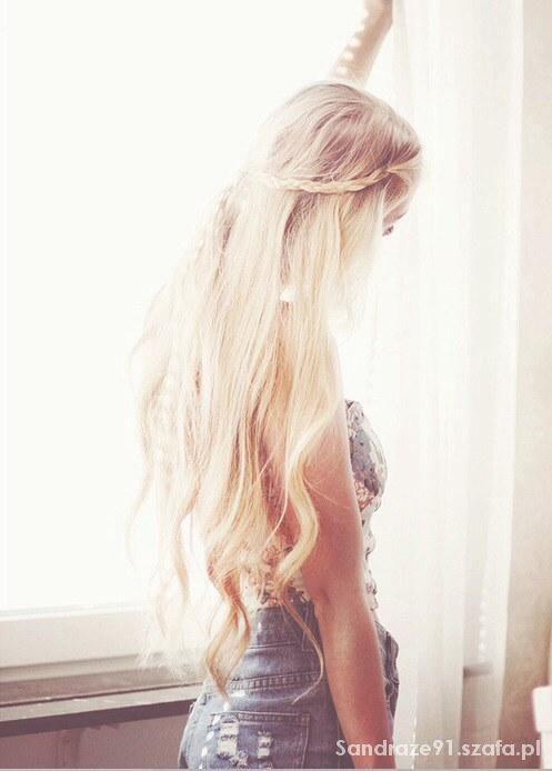 Długie Blond Włosy W Fryzury Szafapl