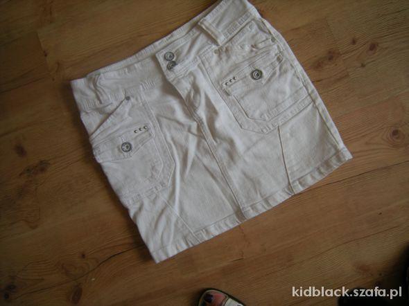 Spódnice biała ołowek jeans 36
