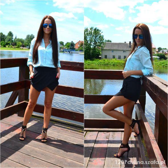 Blogerek asymmetric shorts