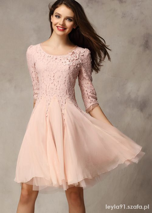 Sukienka tiul różowa sheinside
