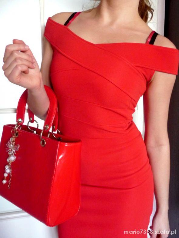 494202ed63 Asos XS czerwona sukienka bandażowa bodycon sexy w Suknie i sukienki ...