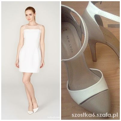 Eleganckie Biała sukienka Mohito
