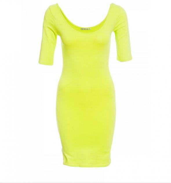 żółta limonkowa sukienka...