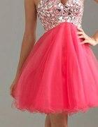Pink dress...