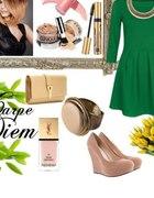 Zielona sukienka Troll