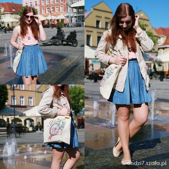 Blogerek Jeansowa spódnica