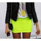 spódniczka neon