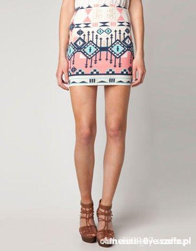 Spódnice aztecka spódniczka bershka