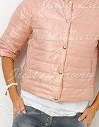 kurtka pikowana pudrowy róż lub błękitna M L